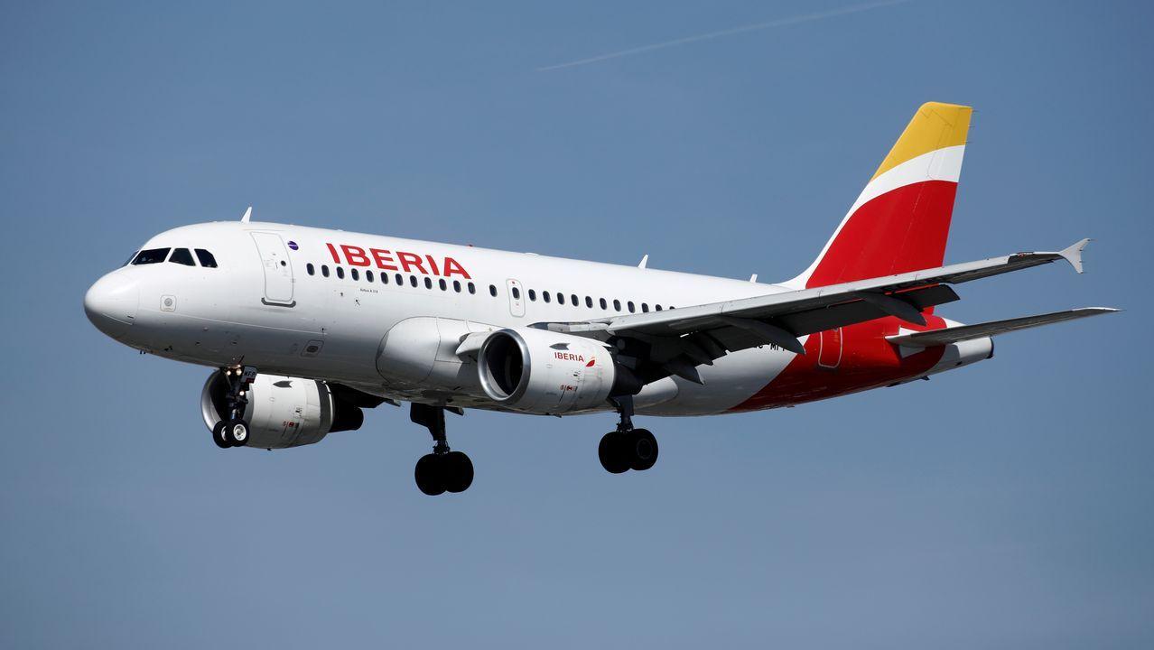 Aviones de Iberia, parados hace unos días en el aeropuerto de Barajas