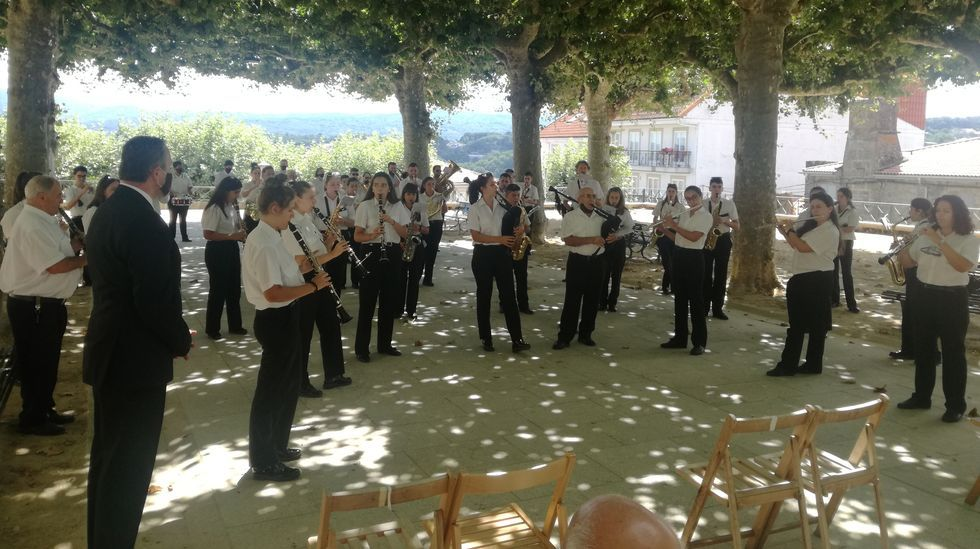 La Banda de Música de Celanova ha dado varios conciertos estos días