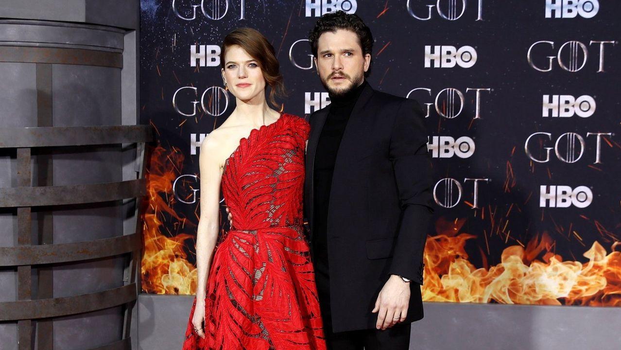¿Cambiarías el final? La respuesta de los protagonistas de Juego de Tronos.Leslie Rose y Kit Harington, en el estreno de la temporada final de «Game of Thrones» en Nueva York