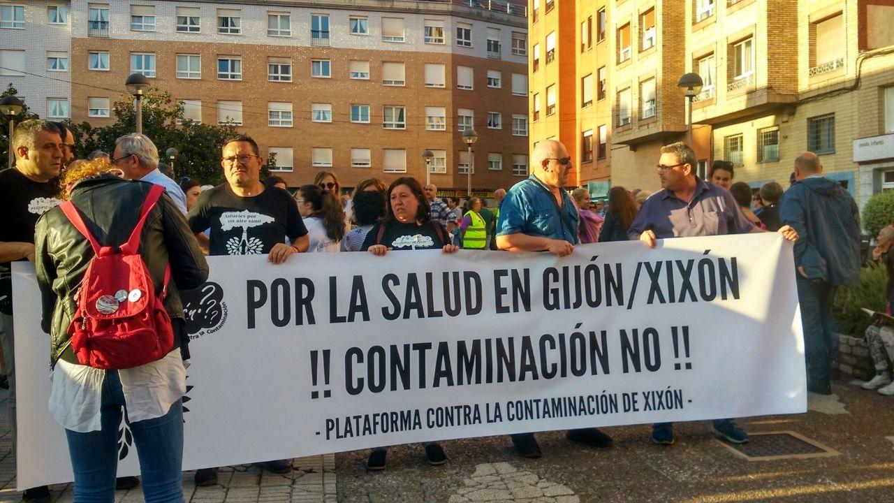 Pancarta con el lema de la protesta