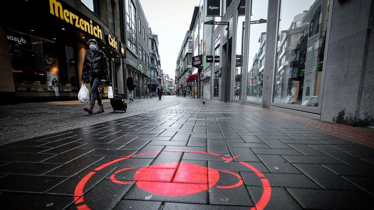 Un pictograma de mascarilla obligatoria en Alemania