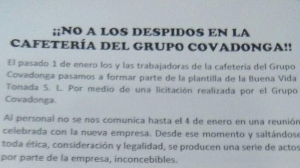 «Juan Sin Miedo», un asturiano contra el clima de Mongolia.Octavillas contra los despidos de la cafetería del Grupo Covadonga