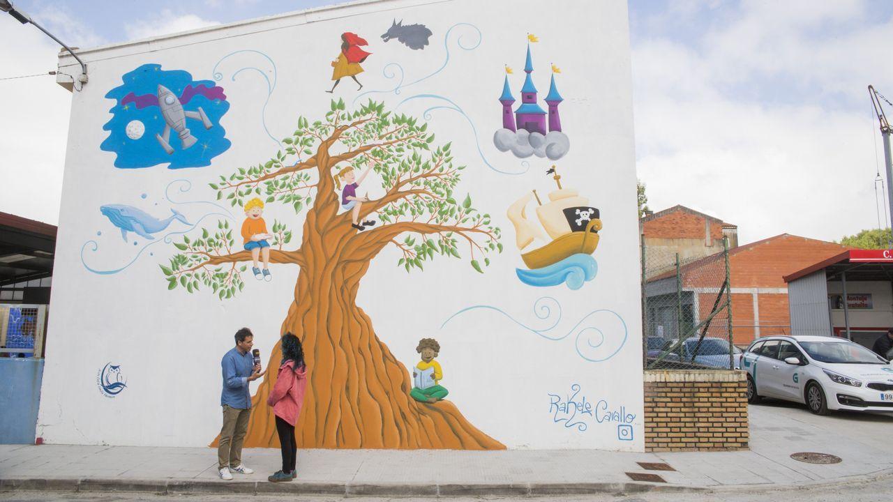 Mural que pintó Rachele Cavallo en el exterior del centro