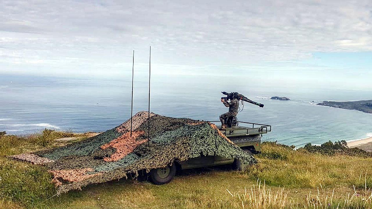 Tres meses con la OTAN: la F-102 vuelve a Ferrol.Puesto de tiro de la Unidad de Defensa Antiaérea ubicado en Monteventoso