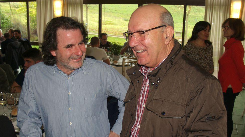 Primitivo Lareu, de la bodega chantadina Sabatelius (izquierda), con Manuel Gómez, de Val de Quiroga