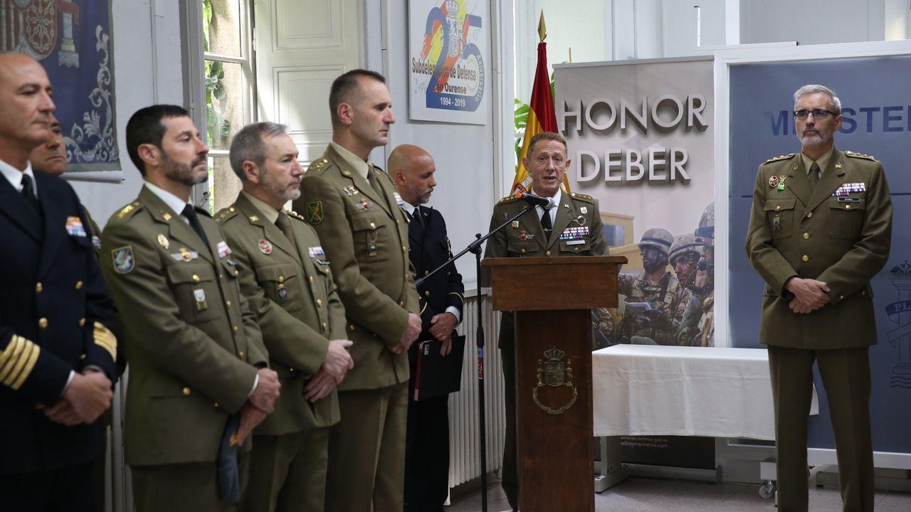 Asturias vive su primer día de confinamiento.Los funcionarios menos numerosos son los adscritos a las fuerzas armadas. Solo hay trece trabajadores dedicados a esas tareas en Ourense