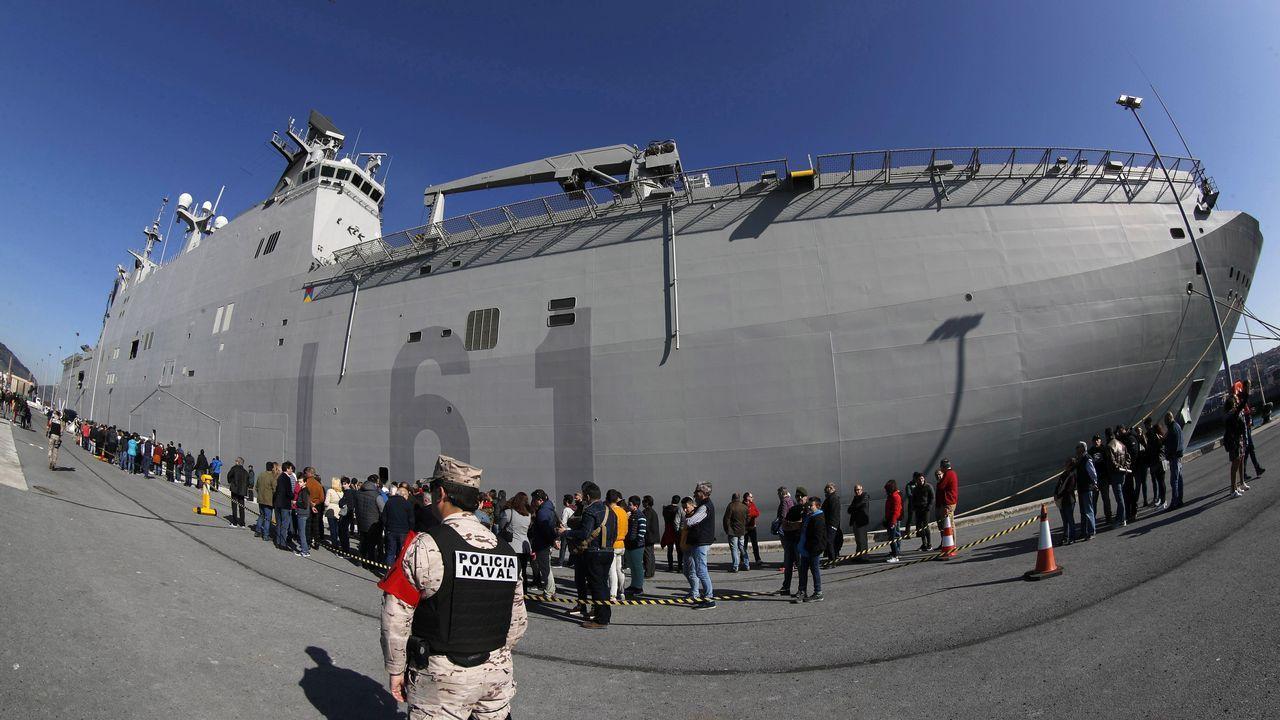 Pasión y polémica en Getxo por el portaaviones Juan Carlos I