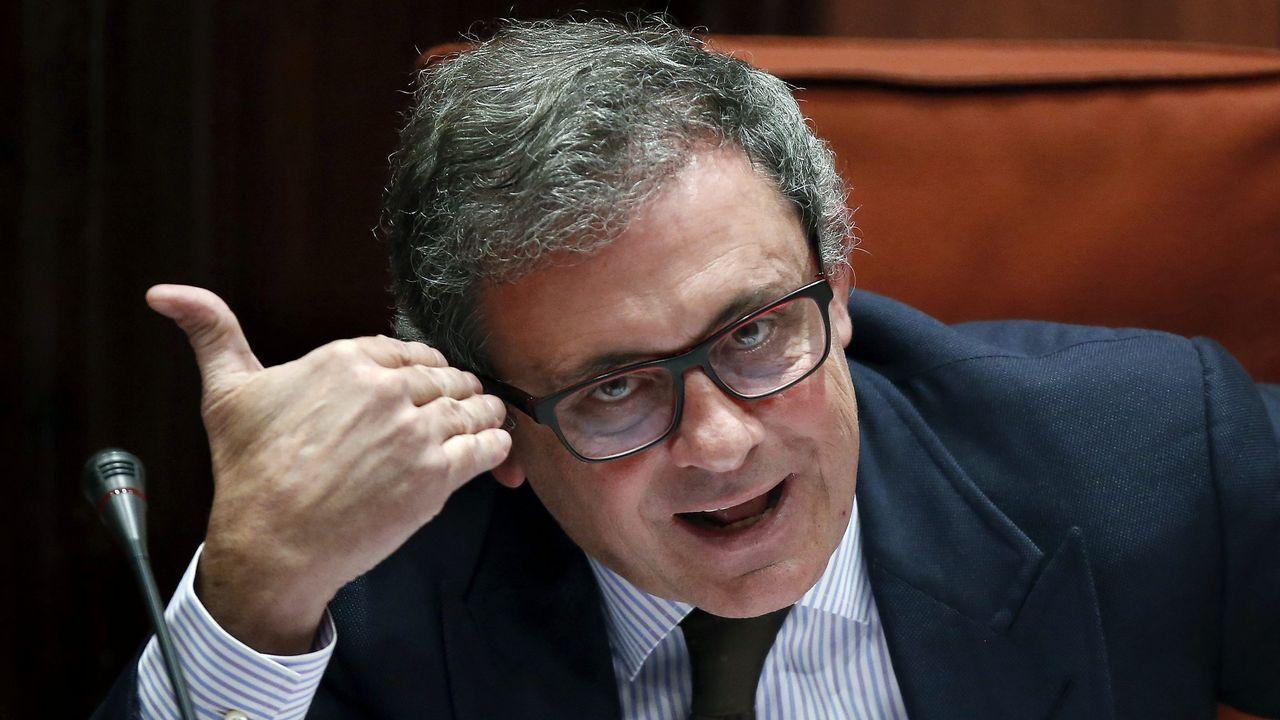 Jordi Pujol Ferrusola, Junior, durante su polémica comparecencia en el Parlamento de Cataluña en febrero del 2015, en la que presumió de su parque móvil