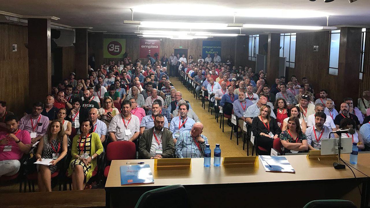 Sindicatos y CEOE.Congreso regional del SOMA