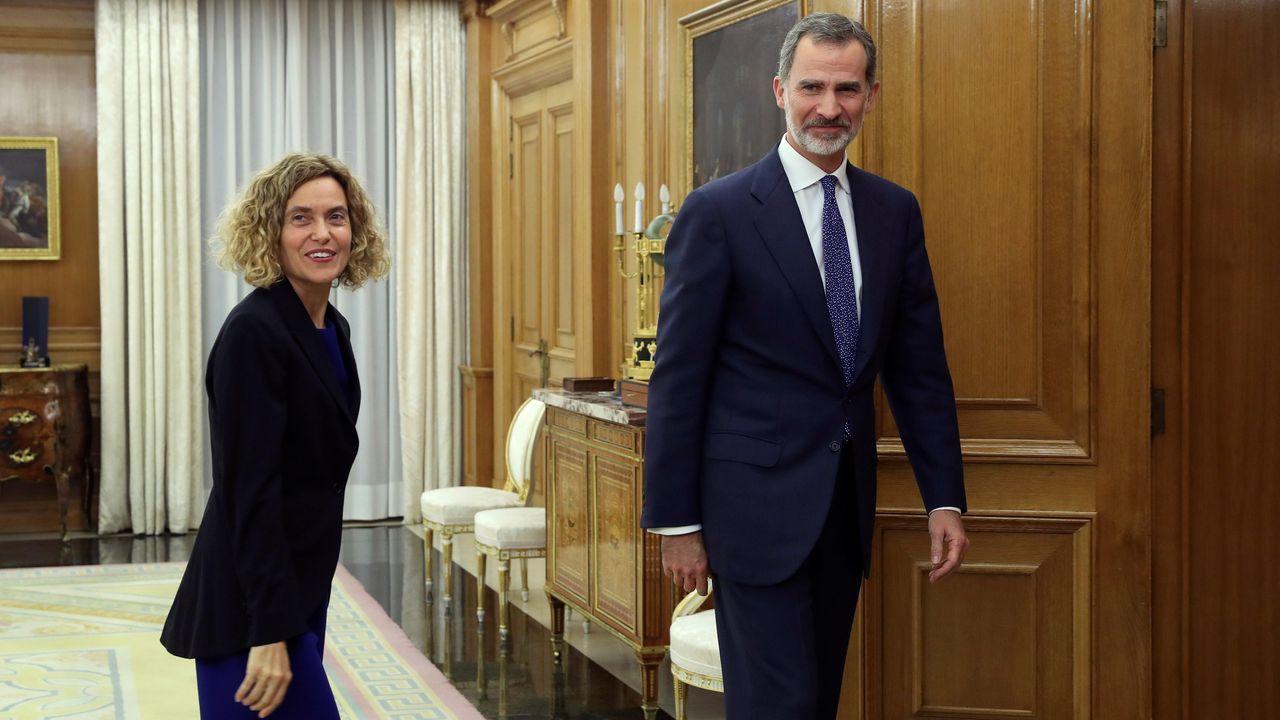Felipe VI recibe a Meritxell Batet en la Zarzuela