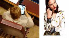 Imagen del momento en el que Villalobos visita una tienda online de moda, captado por La Sexta