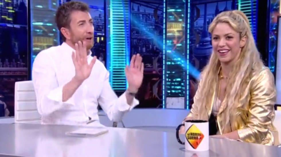 Shakira, durante la entrevista con Pablo Motos