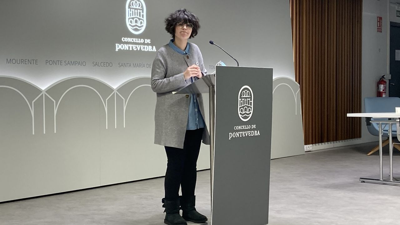 Así fue la jornada de vacunacióin masiva en Pontevedra.Anabel Gulías, portavoz del gobierno local de Pontevedra