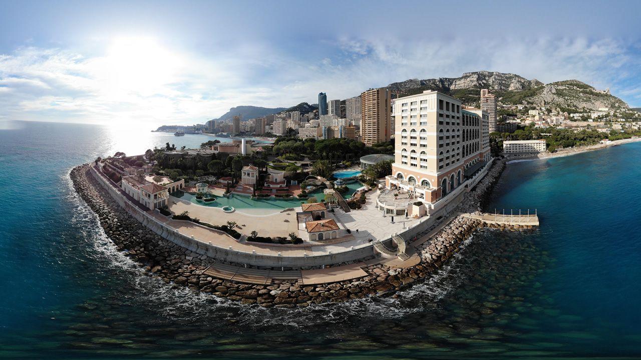Mónaco en una panorámica sacada con el dron Mavic Air