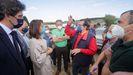 EN IMÁGENES: tractorada en Riotorto contra la nueva planta de residuos