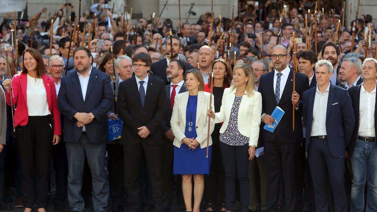 Los alcaldes proreferendo se reúnen en el Ayuntamiento de Barcelona