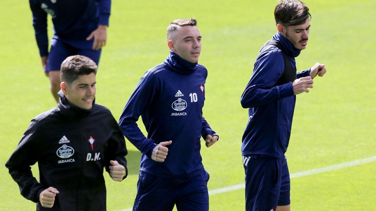 El jugador gallego del Celta Iago Aspas apunta a titular