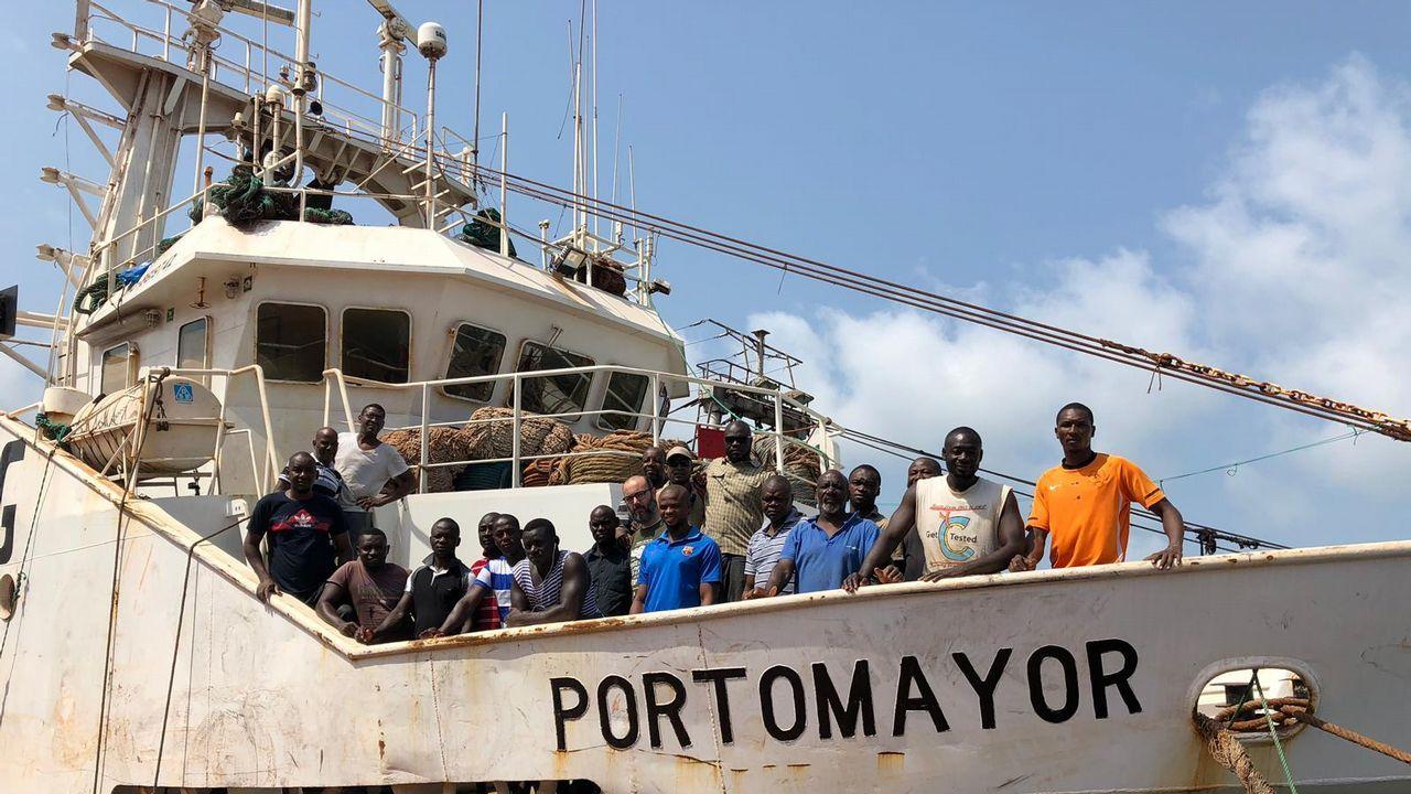 La tripulación del buque gallego Portomayor está retenida en Guinea Conakry desde el 18 de abril
