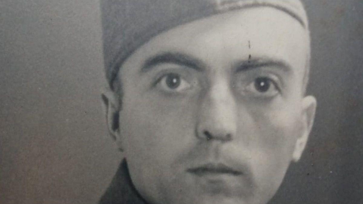 Retrato del ribadense José Ramón García Espina, combatiente de la División Azul que murió durante el cerco a Leningrado en 1943