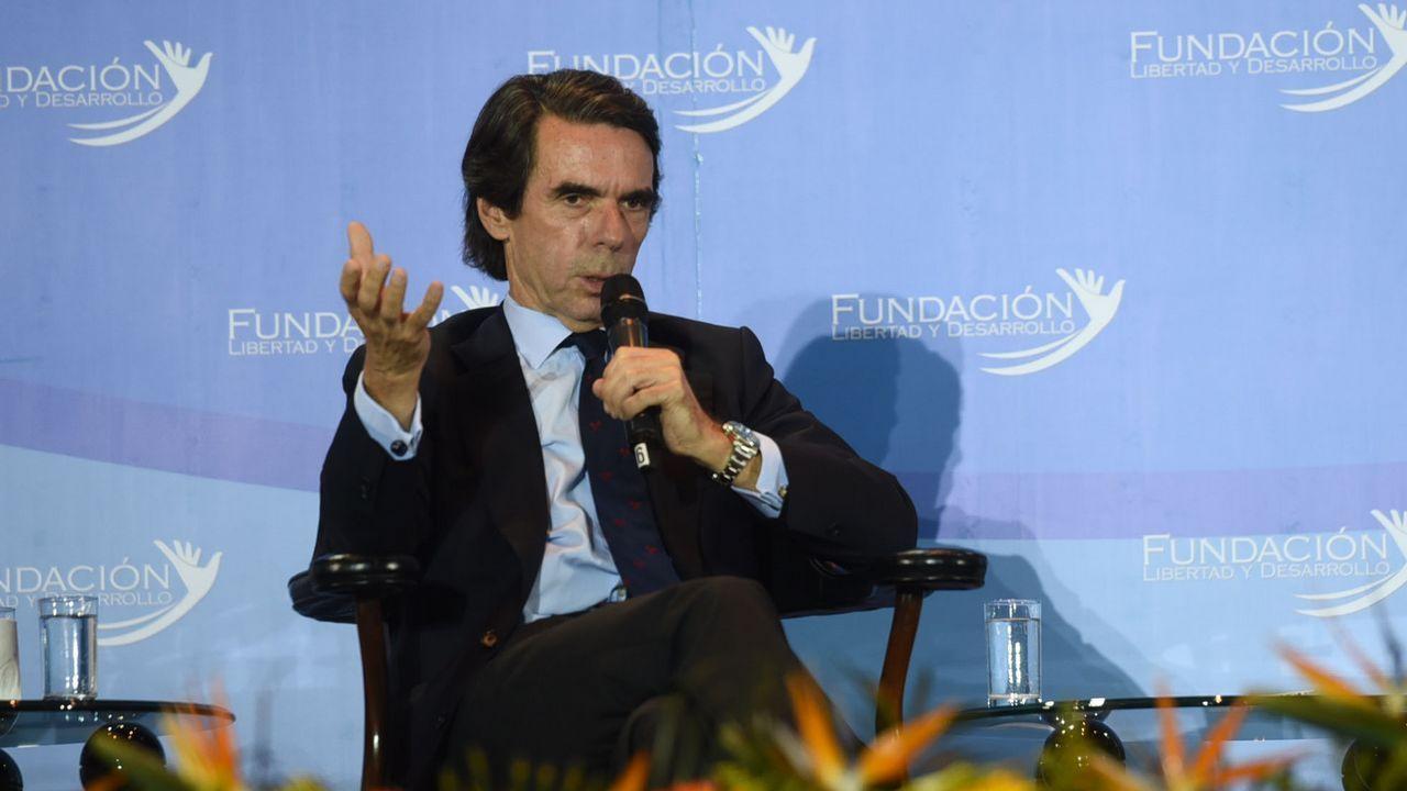 Mariano Rajoy (PP).José Maria Aznar