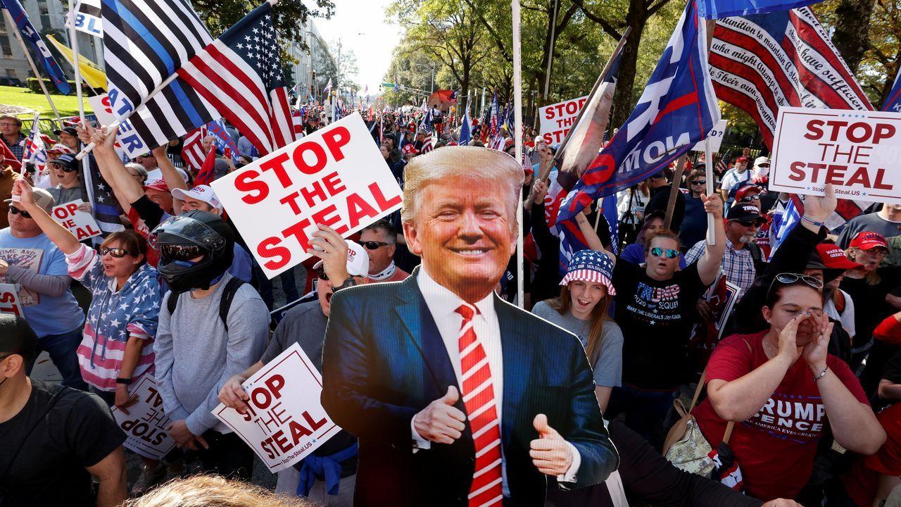 Trump, en un acto en la Casa Blanca