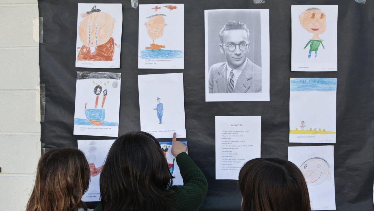Actividade nun colexio polo Día das Letras Galegas