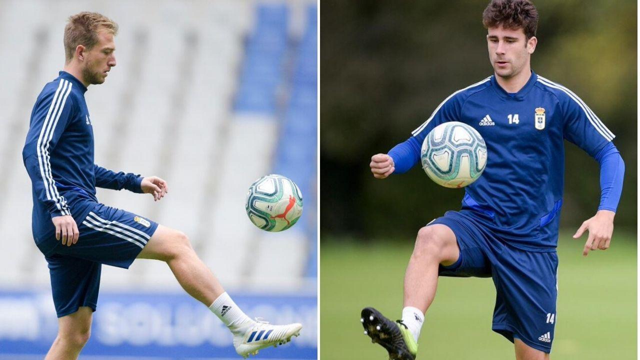 Arribas Alex Lopez Real Oviedo Extremadura Carlos Tartiere.Edu Cortina y Jimmy