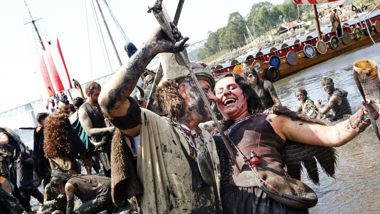 El Desembarco Vikingo de Catoira durante la celebración del pasado año
