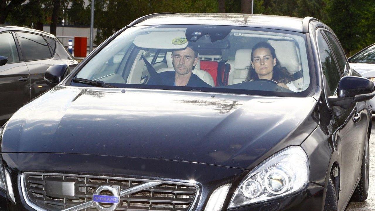 María Palacios acudió a recoger a Alessandro Lequio a su llegada a Madrid