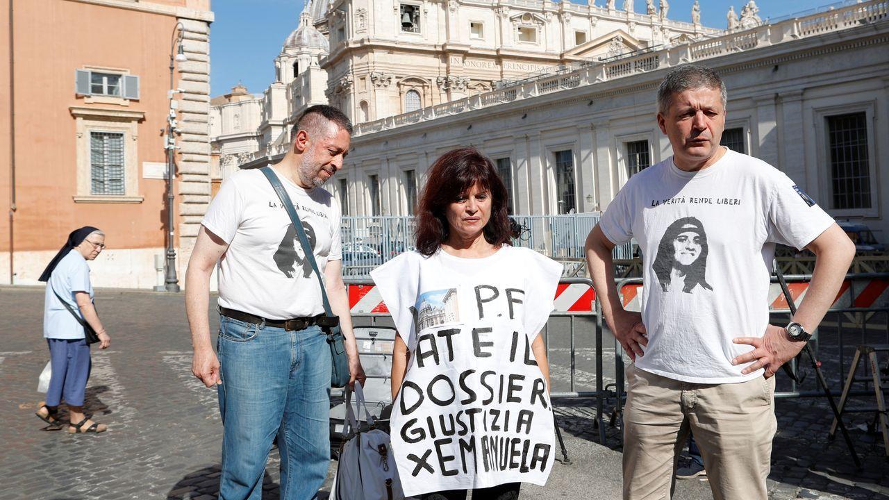 Este jueves en el Vaticano, donde esperaban encontrar alguna pista sobre la desaparición de la niña Orlandi