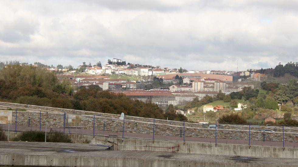 La ciudad desde la Cidade da Cultura.