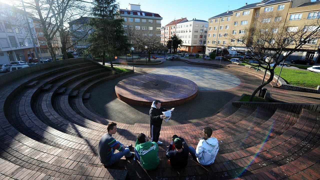 En la zona hay varios espacios con el nombre de la Constitución, como esta plaza en Santa Cecilia