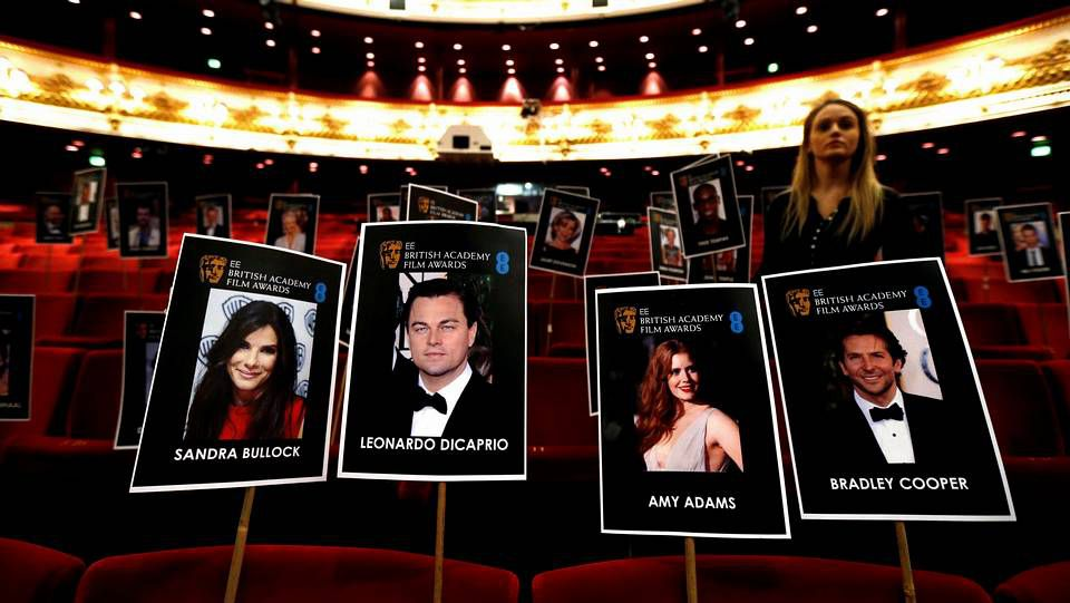 La gala de los BAFTA.El Royal Opera House ya está listo para recibir a los protagonistas de los Bafta