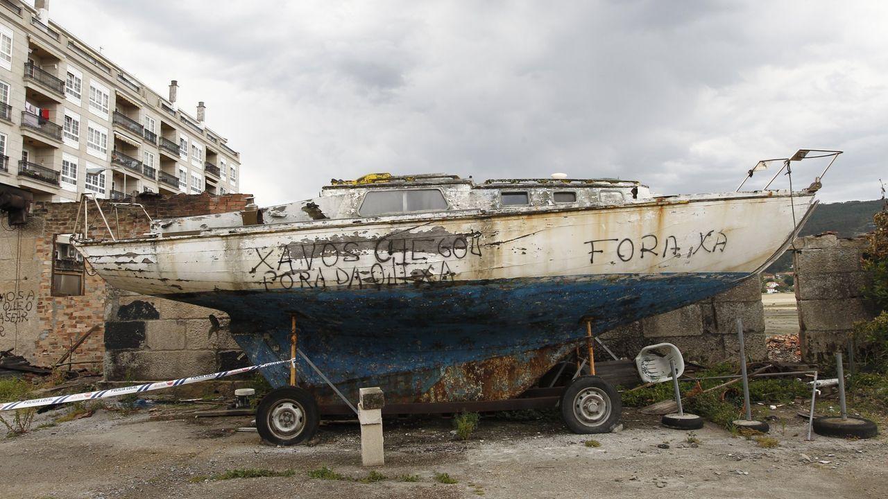 El astillero Casqueiro de Moaña quedó arrasado hace dos años y permanece igual