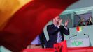 Santiago Abascal tras su valoración de los resultados