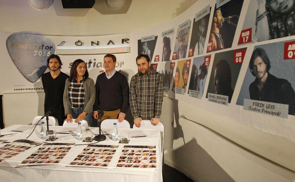 Entrega de los premios María Casares.Fredi Leis, Fefa Noia, Jesús Peón y Miguel Lueiro presentaron el Santiautor<span lang= es-es > </span>