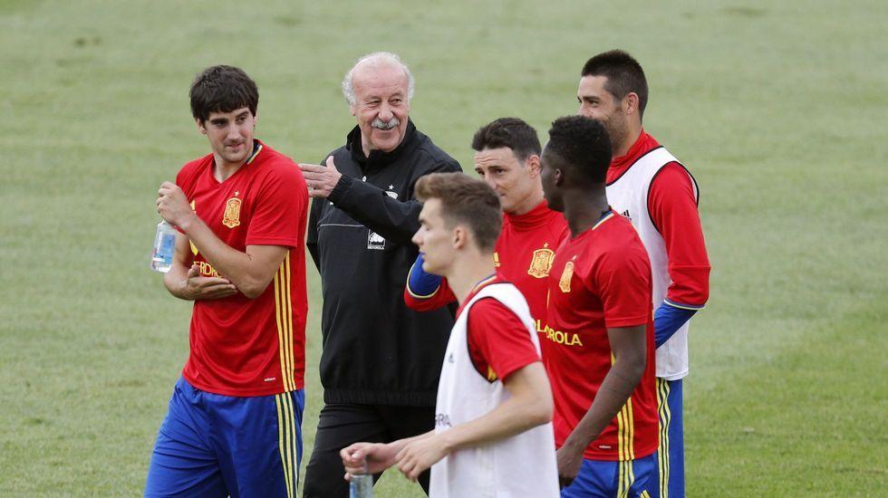 La selección ultima detalles de cara al último ensayo previo a la Eurocopa.David Villa