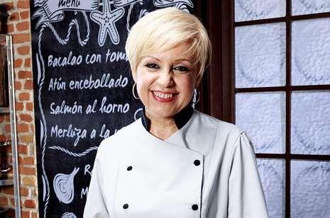 Alberto Chicote, en la plaza de Abastos de Santiago.La cocinera Susi Díaz, jurado en «Top Chef» de Antena 3.