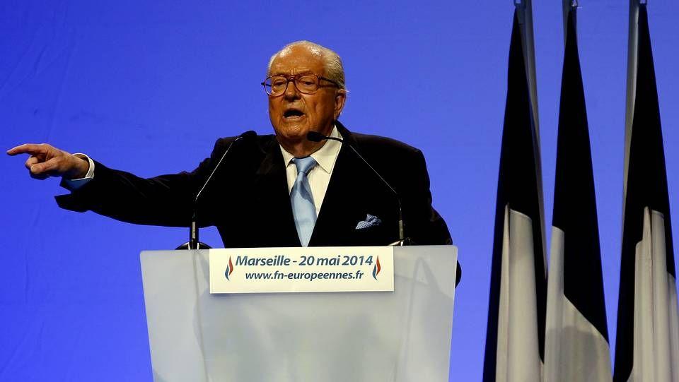 Jean-Marie Le Pen, presidente de honor del Frente Nacional francés
