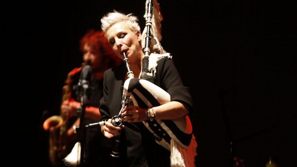 Susana Seivane nun concerto de homenaxe ao poeta Manuel María celebrado na Coruña o pasado setembro