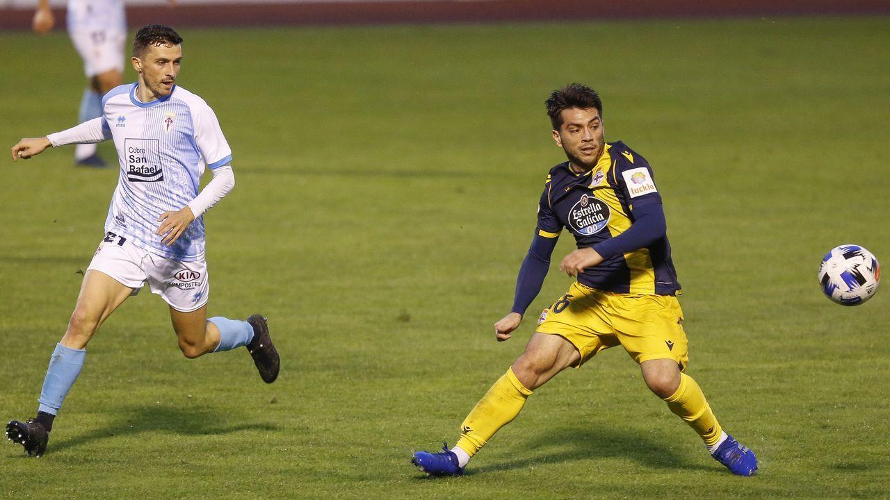 Todas las imágenes del Sevilla-Celta.Imagen del Compostela-Deportivo correspondiente a la segunda jornada