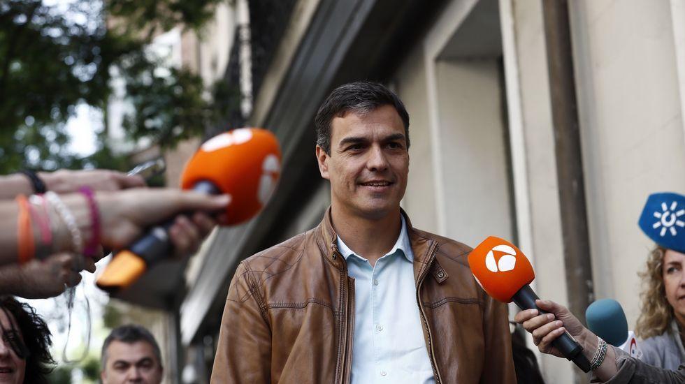 Llegada de Pedro Sánchez