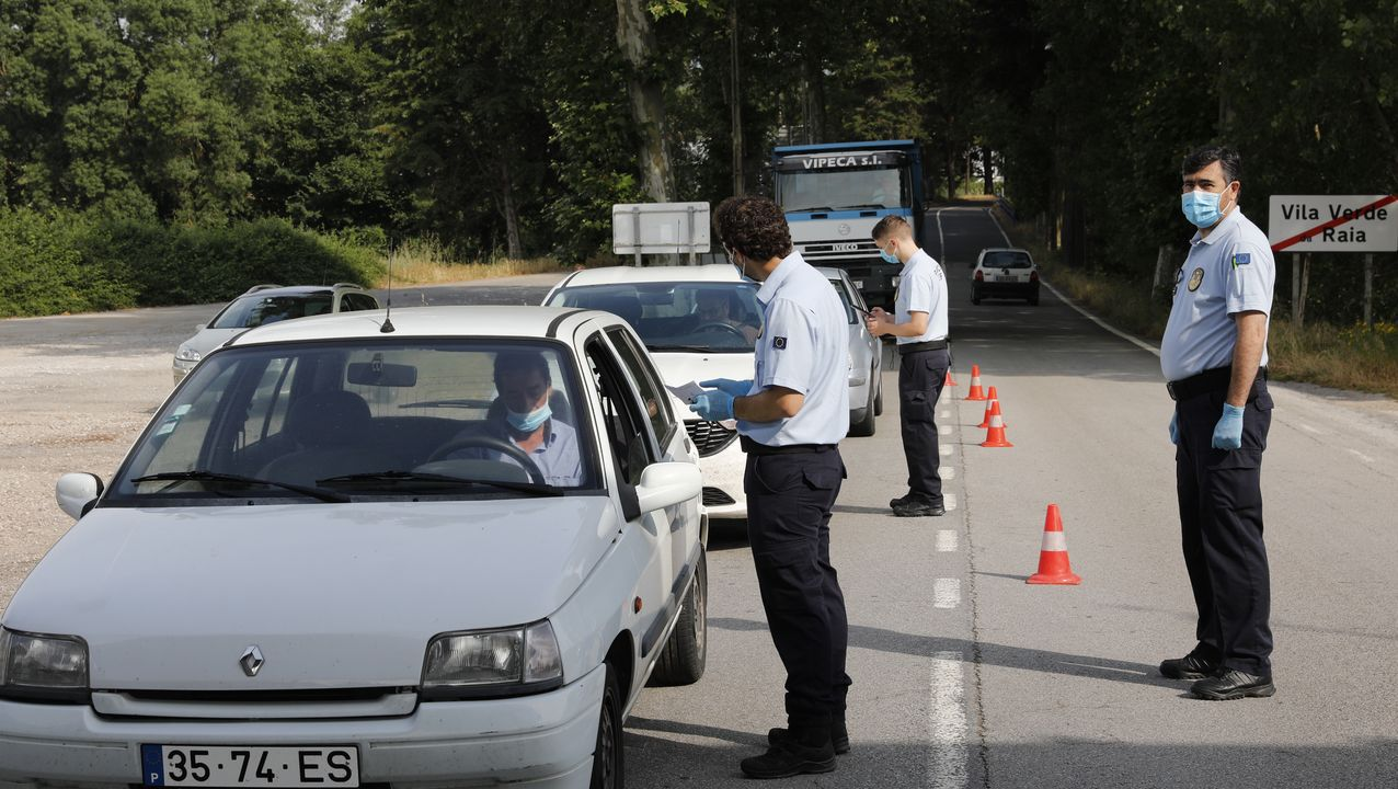Controles en la frontera con Portugal en Feces