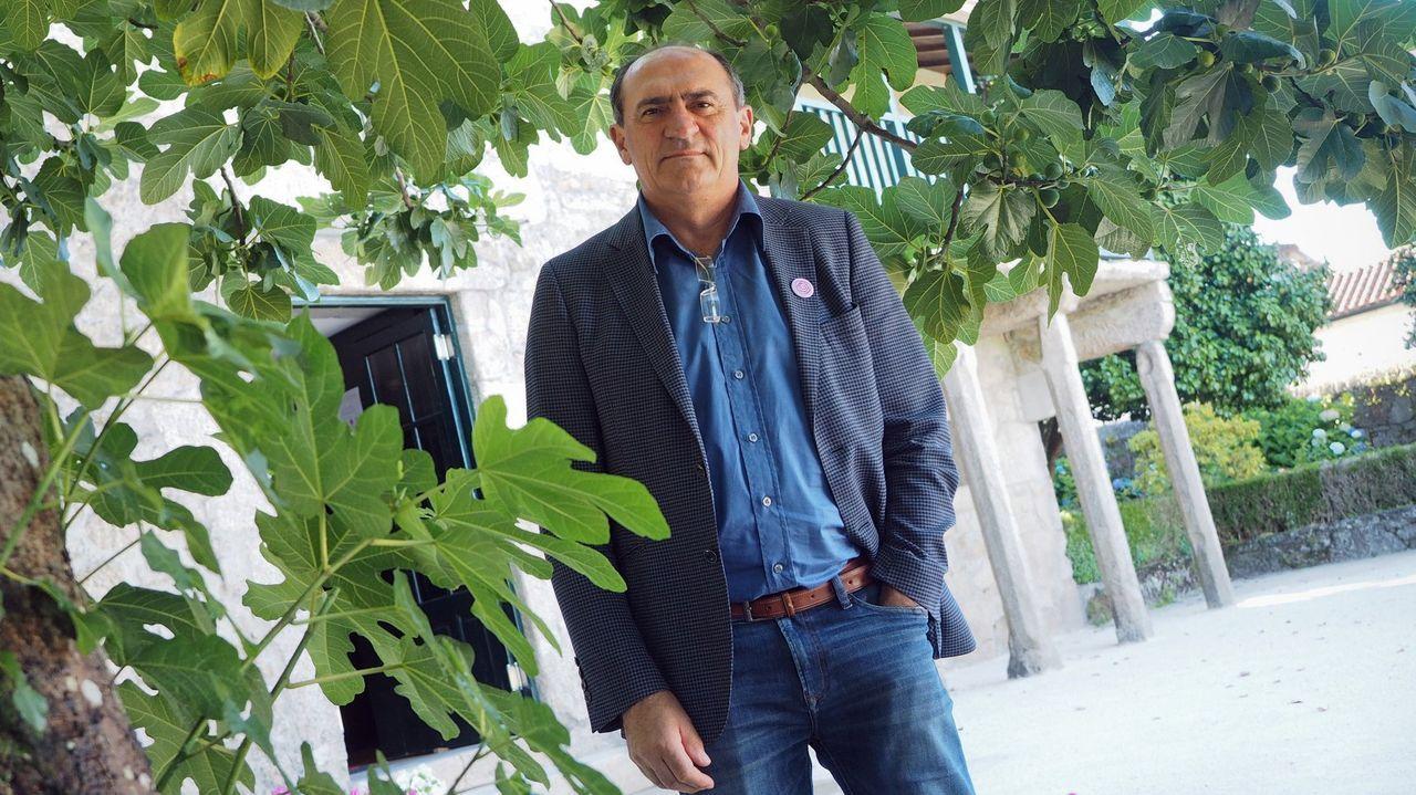 Cruz do Outeiro da Obra de Celanova.Fernando González llegó a Iberolacto en 1971 como director de planta