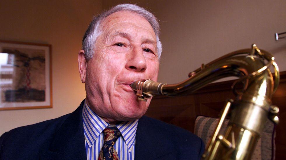 Pedro Iturralde, saxofonista, clarinetista y compositor.