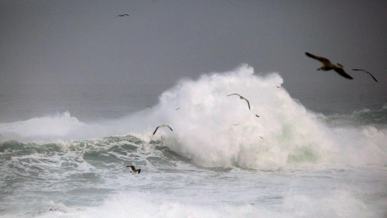 El impacto de Evi en el litoral gallego