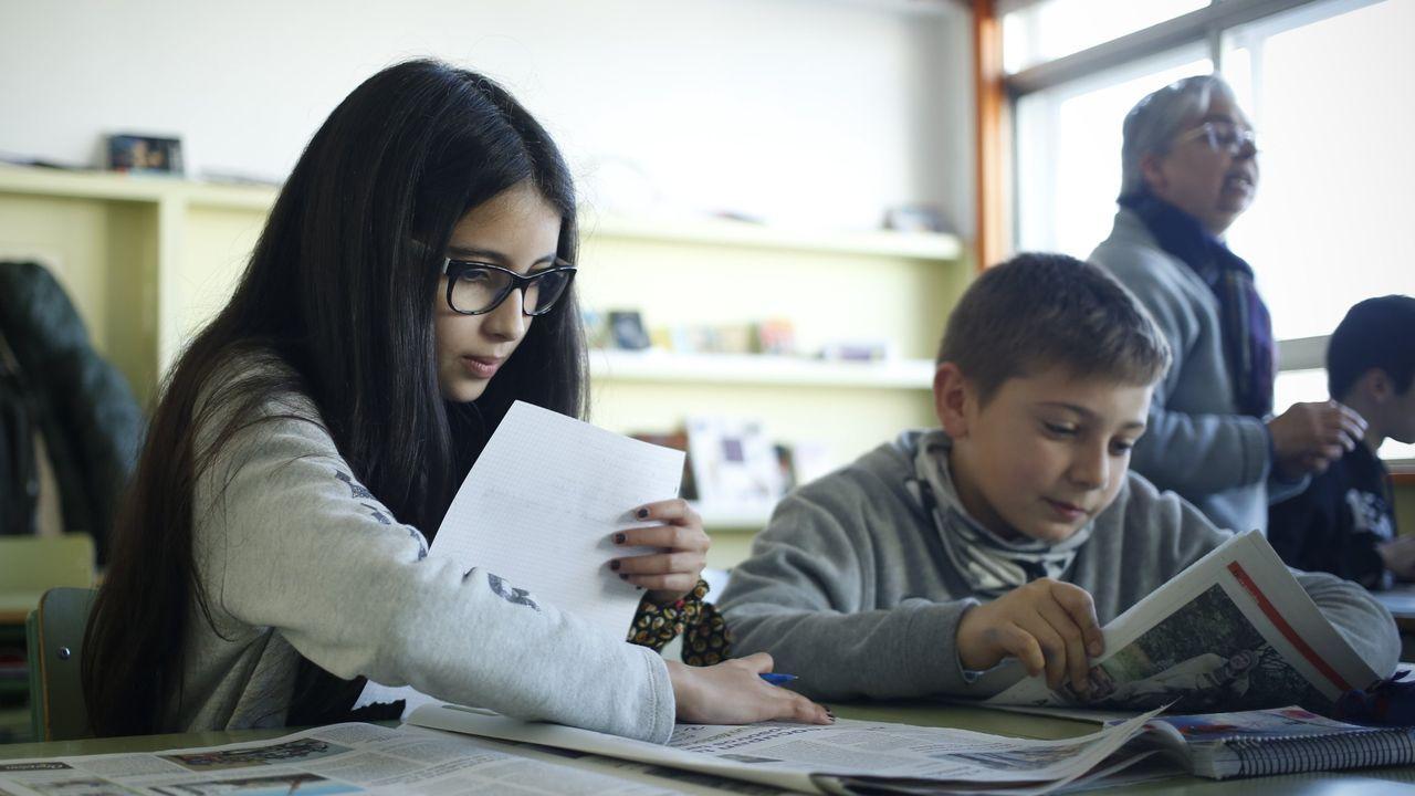 «Un xornal na aula transmite aos alumnos algo que un vídeo ou unha película non transmiten», opina a profesora Cristina Almeida