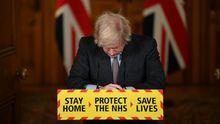 Boris Johnson, durante su rueda de prensa del martes