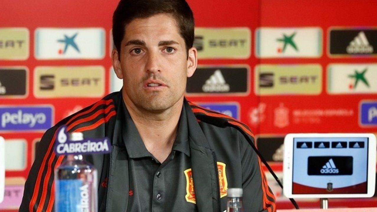 Choco Lozano celebra un gol con el Girona