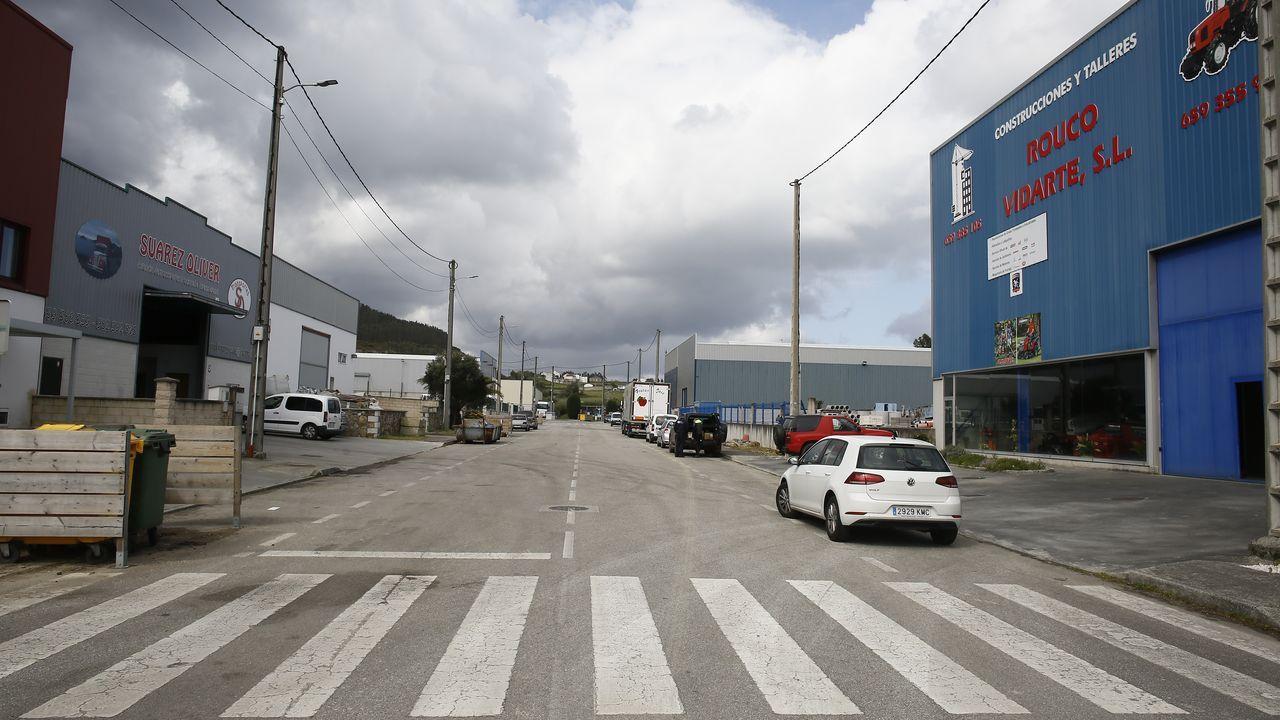 En el polígono industrial de Camba, en Xove, en imagen de este lunes, se asientan varias empresas auxiliares de Alcoa San Cibrao